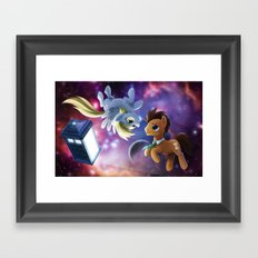 Whooves and Derpy Framed Art Print