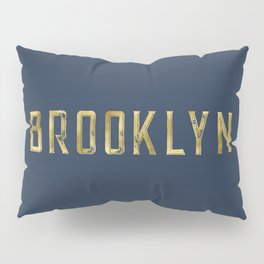 Brooklyn in Gold on Navy Pillow Sham