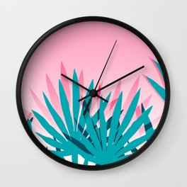 Dissed - memphis retro vintage neon pink pastel ombre trendy girl gift for hipster urban beach goer Wall Clock