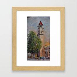 Tirana Clock by Frederik Proko Framed Art Print