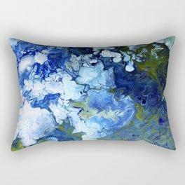 Abstract Nature Acrylic Pour Rectangular Pillow