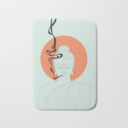 Buddha : Give Peace a Chance! Bath Mat