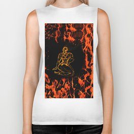 Breathing in Red Fire Biker Tank