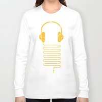 carnage Long Sleeve T-shirts featuring Gold Headphones by Sitchko Igor
