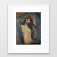 madonna Framed Art Prints featuring Madonna by Erotic Museum