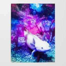 Space Axolotl Poster