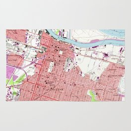 Vintage Map of Savannah Georgia (1955) 2 Rug