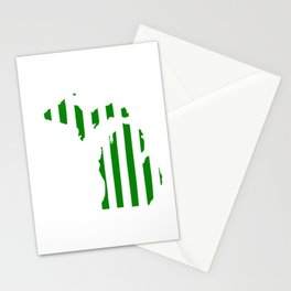 Green and White Michigan Stationery Cards