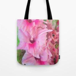 Light Pink Gladiolas Tote Bag