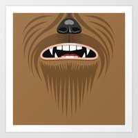 starwars Art Prints featuring Chewbacca - Starwars by Alex Patterson AKA frigopie76