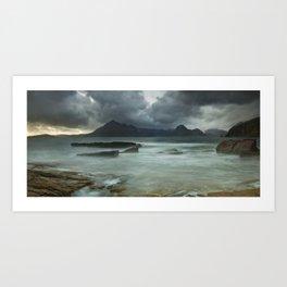 Cuillins Storm, Elgol Art Print