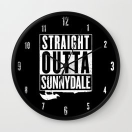 Straight Outta Sunnydale Wall Clock