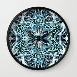 Blue Pathways Wall Clock