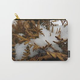 Snowy Shrub Carry-All Pouch
