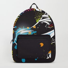 cool sneaker graffiti with wings Backpack