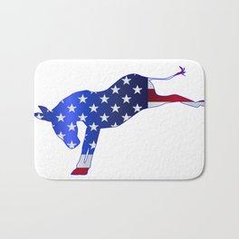Democrat Donkey Flag Bath Mat