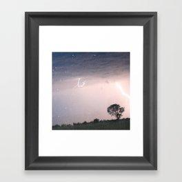 mother nature's fury Framed Art Print