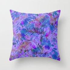 Palmtastic Purple Throw Pillow
