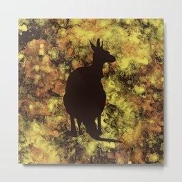 Yellow Kangaroo Metal Print