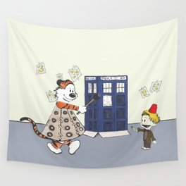 Playing Doctor and Daleks Wall Tapestry