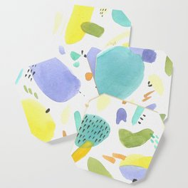 Chubby Watercolor marks Coaster