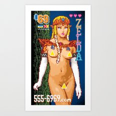 For a Good Time, Call Zelda Art Print