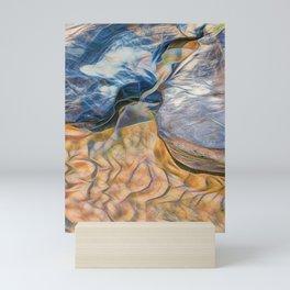 Abstract beautiful rocks on the sand Mini Art Print