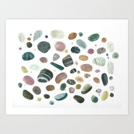 Pebbles and pearls Art Print