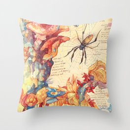 Sketchbook - Fungi Throw Pillow