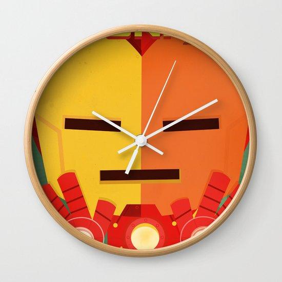 ironman fan art Wall Clock