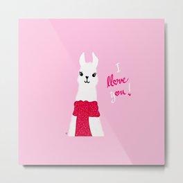 Llama Llove You Metal Print