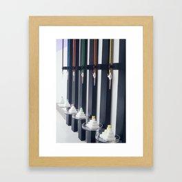 Relativity Clocks Framed Art Print