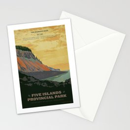 Five Islands Provincial Park Poster Stationery Cards