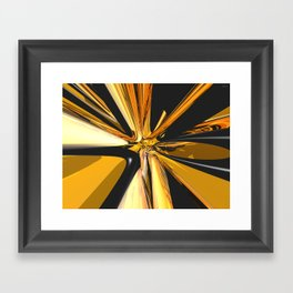 Black And Gold 3D Abstract Framed Art Print
