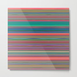 Colour Line Stripes 631 Metal Print