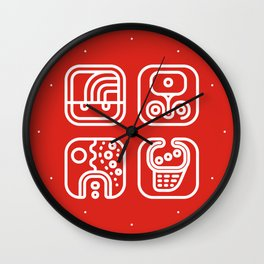 Mayan Glyphs ~ ABSTRACT Wall Clock