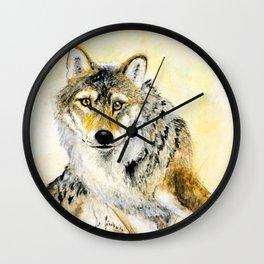 Totem Grey wolf Wall Clock