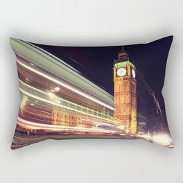 Big Ben, London. Night shot with light trails Rectangular Pillow
