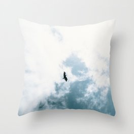 Bird Flying Throw Pillow