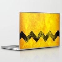 charlie brown Laptop & iPad Skins featuring Distressed Charlie Brown by Leah M. Gunther Photography & Design