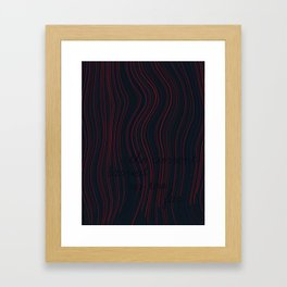 The current carried us too far. Framed Art Print