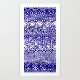 sun floral paisley in reverse violet Art Print