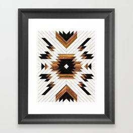 Urban Tribal Pattern 5 - Aztec - Concrete and Wood Framed Art Print