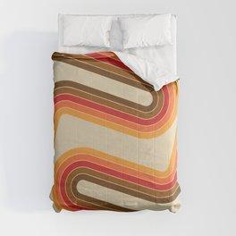 Diagonal retro lines Comforters