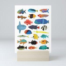 Tropical Fish chart Mini Art Print