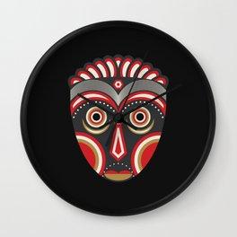 Lulua Mask Wall Clock