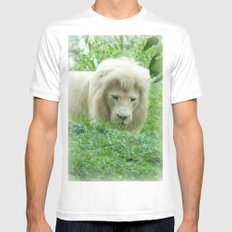 Lion MEDIUM Mens Fitted Tee White