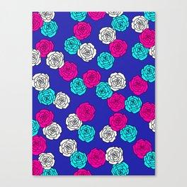 Pop Roses Pattern Canvas Print