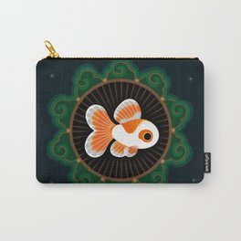 Butterfly goldfish - white Carry-All Pouch