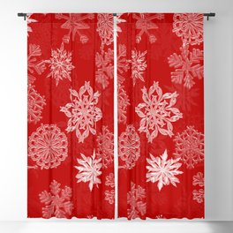 Snowflake Pattern (Red) Blackout Curtain